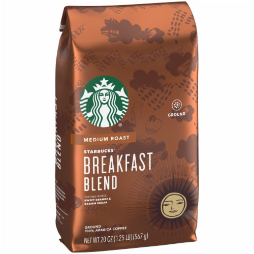 Starbucks Breakfast Blend Medium Roast Ground Coffee Perspective: front