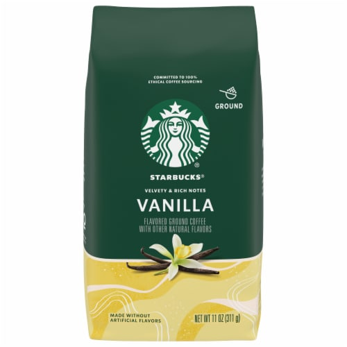 Starbucks Vanilla Flavored Ground Coffee Perspective: front
