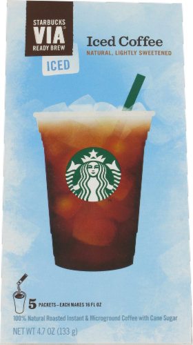 Starbucks VIA Iced Coffee Packs 5 Count Perspective: front