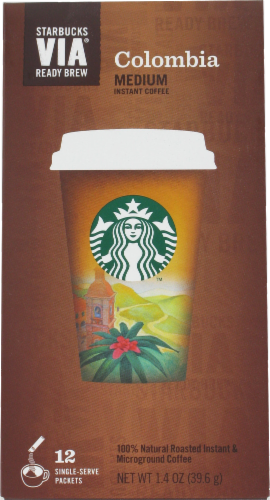 Starbucks VIA Columbia Coffee Single-Serve Packets Perspective: front