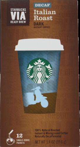 Starbucks VIA Italian Roast Coffee Single-Serve Packets Perspective: front
