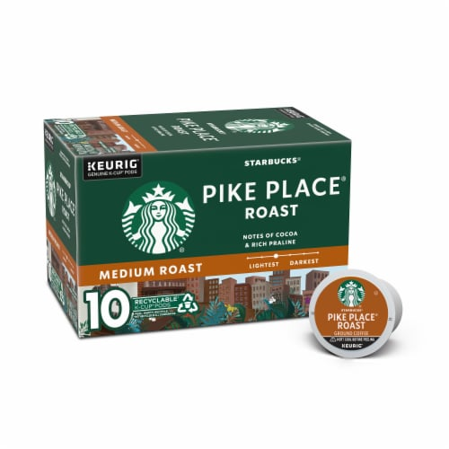 Starbucks Pike Place Medium Roast Coffee K-Cup Pods Perspective: front