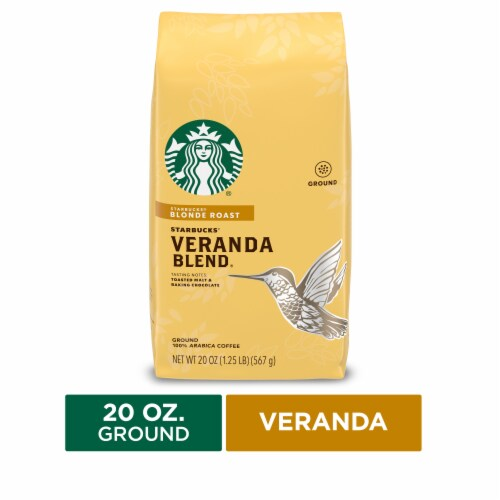 Starbucks Veranda Blend Blonde Roast Ground Coffee Perspective: front