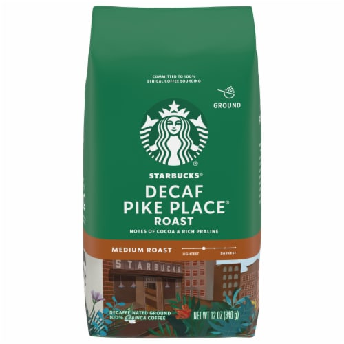 Starbucks Pike Place Medium Roast Decaffeinated Ground Coffee Perspective: front