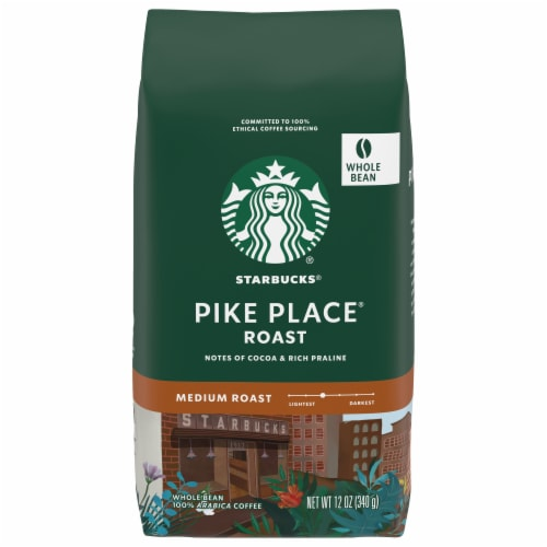 Starbucks Pike Place Medium Roast Whole Bean Coffee Perspective: front