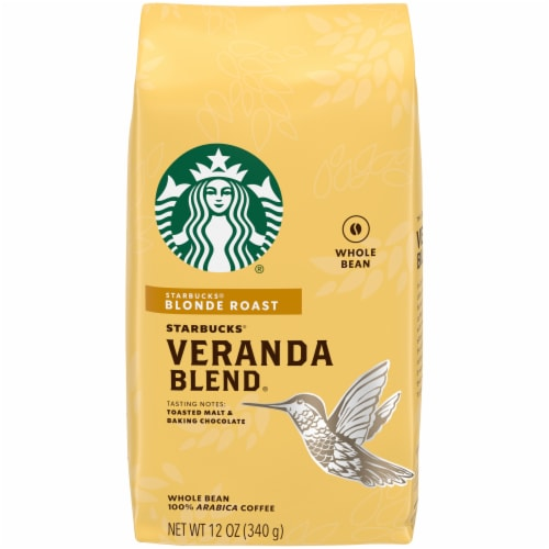 Starbucks Veranda Blend Blonde Roast Whole Bean Coffee Perspective: front