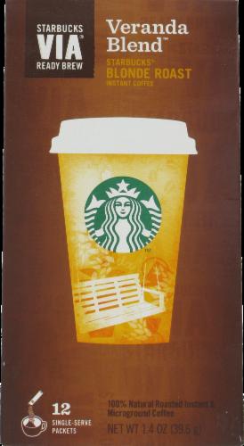 Starbucks Via Veranda Blonde Roast Single-Serve Packets Perspective: front