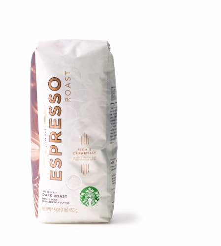Starbucks Expresso Dark Roast Whole Bean Coffee Perspective: front