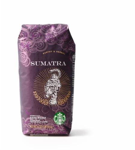 Starbucks Sumatra Dark Roast Whole Bean Coffee Perspective: front