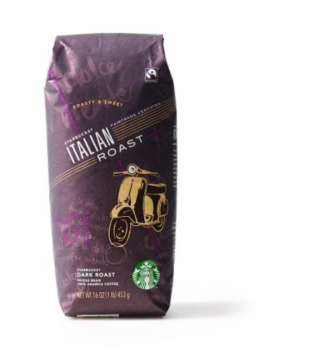 Starbucks Italian Dark Roast Whole Bean Coffee Perspective: front