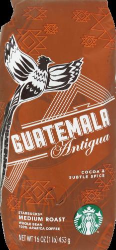 Starbucks Guatemala Antigua Medium Roast Whole Bean Coffee Perspective: front