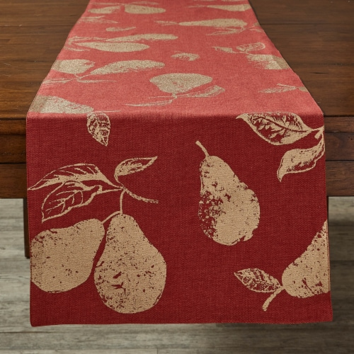 """Split P Gold Pear Table Runner - 72""""L - Sienna Perspective: front"""