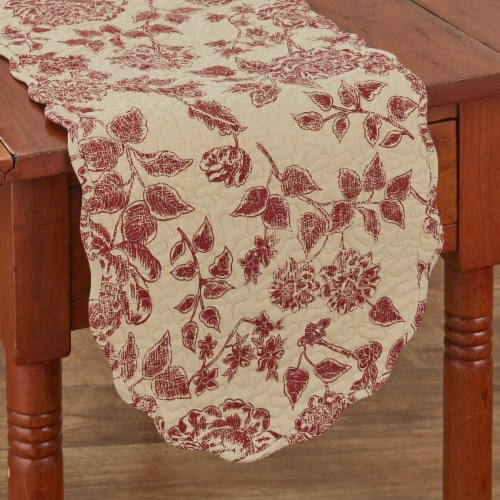 """Park Designs Rustic Floral Table Runner - 54""""L Perspective: front"""