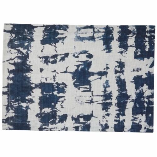 Split P Indigo Printed Placemat Set - Blue Perspective: front