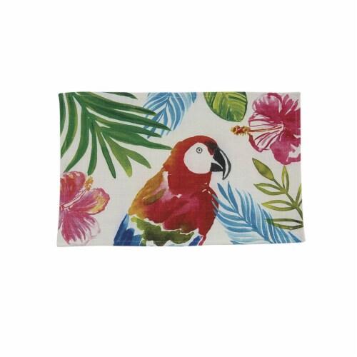 Split P Tropical Paradise Parrot Placemat Set - White Perspective: front