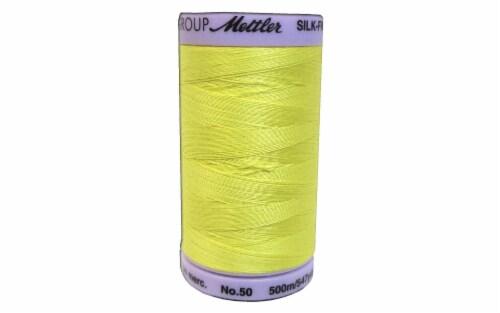 Mettler Silk Finish Cotton #50 547yd Lemon Zest Perspective: front