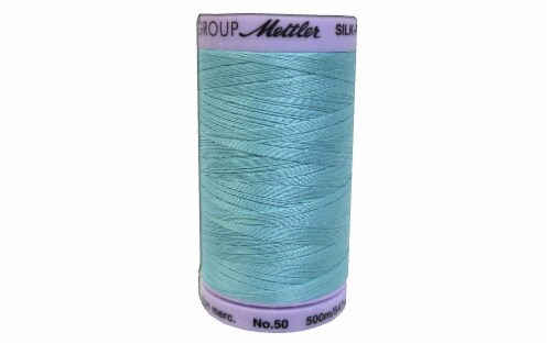 Mettler Silk Finish Cotton #50 547yd Blue Curacao Perspective: front