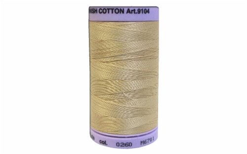 Mettler Silk Finish Cotton #50 547yd Oat Straw Perspective: front