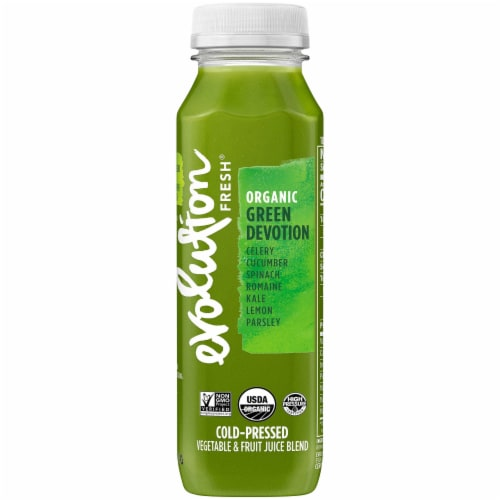 Evolution Fresh Organic Green Devotion Cold-Pressed Juice Blend Perspective: front