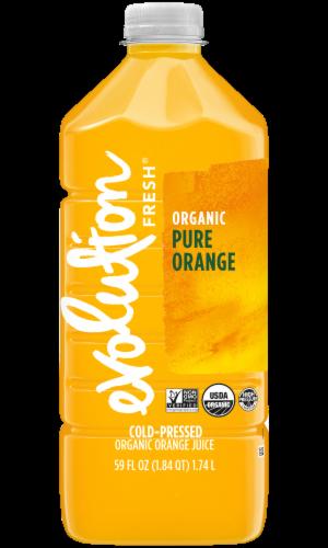 Evolution Fresh Organic Pure Orange Cold-Pressed Orange Juice Perspective: front