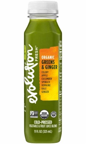 Evolution Fresh Organic Greens & Ginger Cold-Pressed Vegetable & Fruit Juice Blend Perspective: front