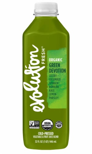 Evolution Fresh Organic Green Devotion Juice Drink Perspective: front