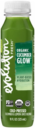 Evolution Fresh Organic Cucumber Glow Juice Perspective: front