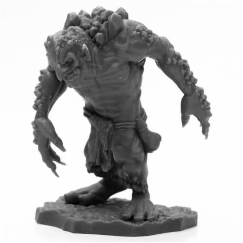 Reaper Miniatures REM44002 Bones Black-Rock Troll Miniature Perspective: front