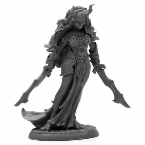 Reaper Miniatures REM44003 Bones Black-Ziba, Female Efreeti Miniature Perspective: front