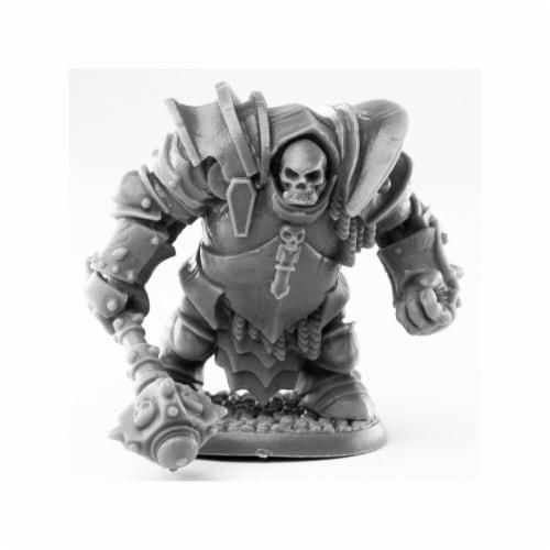 Reaper Miniatures REM44011 Bones Black-Maggotcrown Ogre Juggernaut Miniature Perspective: front