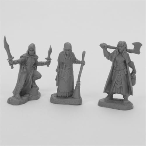 Reaper Miniatures REM44036 Bones Women of Dreadmere Miniatures, Black - Pack of 3 Perspective: front