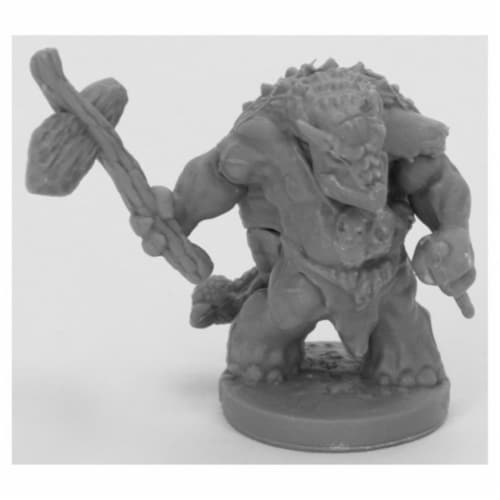 Reaper Miniatures REM44064 Bones Black-Armorback Barbarian Miniature Perspective: front
