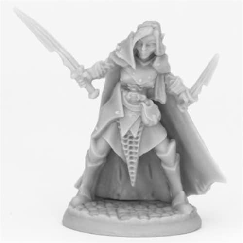 Reaper Miniatures REM44070 Bones Dark Elf Female Warrior Miniatures, Black Perspective: front