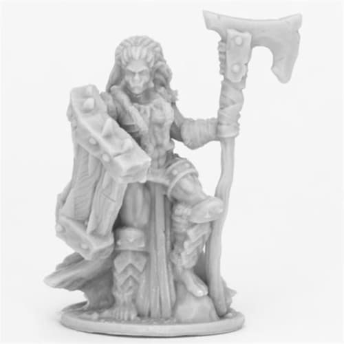 Reaper Miniatures REM44088 Bones Jade Fire Chieftain Miniatures, Black Perspective: front