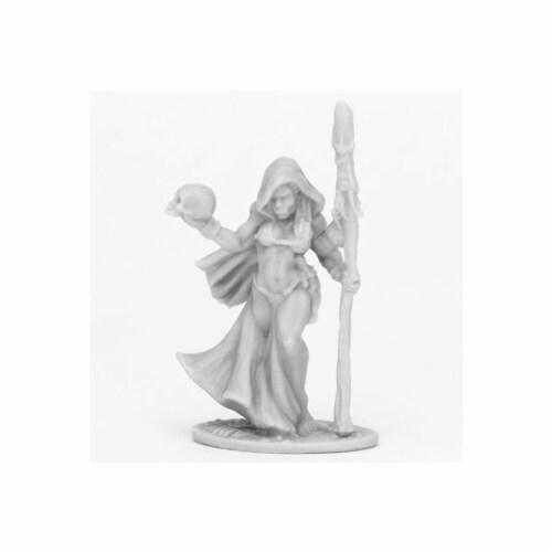 Reaper Miniatures REM44089 Bones Jade Fire Shaman Miniatures, Black Perspective: front