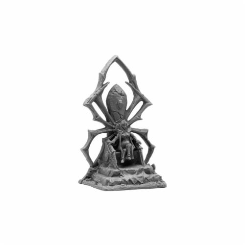 Reaper Miniatures REM44090 Bones Dark Elf Queen on Throne Miniatures, Black Perspective: front