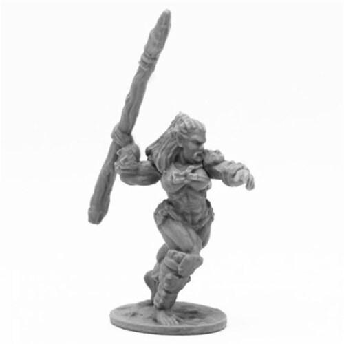 Reaper Miniatures REM44094 Bones Jade Fire Spearman Miniatures, Black Perspective: front