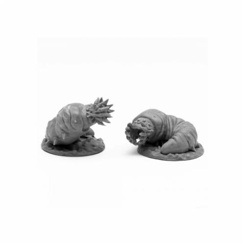 Reaper Miniatures REM44105 Bones Black-Giant Maggots Miniature - 2 Piece Perspective: front