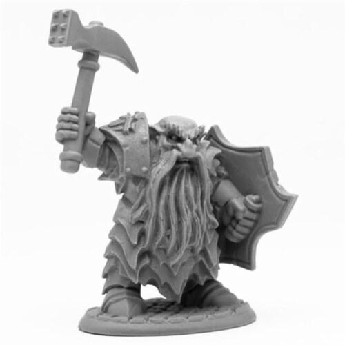 Reaper Miniatures REM44109 Bones Black-Enlarged Dark Dwarf Smiter Miniature Perspective: front