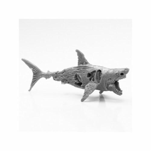 Reaper Miniatures REM44112 Bones Black-Zombie Shark Miniature Perspective: front