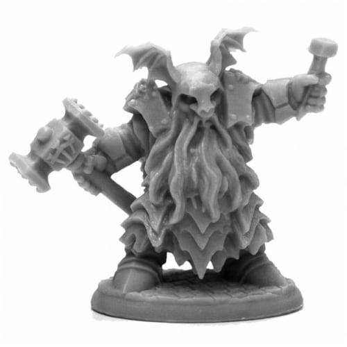 Reaper Miniatures REM44113 Bones Black-Irontongue Priest Miniature Perspective: front