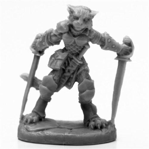 Reaper Miniatures REM44118 Bones Black Catfolk Rogue Miniatures & Miniature Games Perspective: front