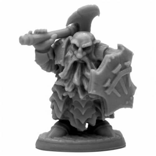 Reaper Miniatures REM44139 Bones Break Dark Dwarf Cleaver Miniatures Perspective: front