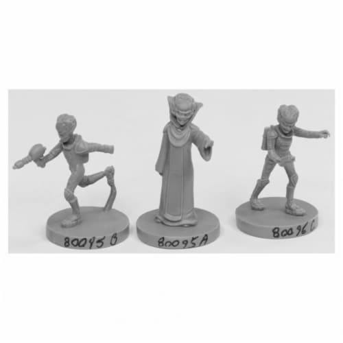Reaper Miniatures REM49001 Bones Alien Overlords Miniatures Set, Black - Pack of 3 Perspective: front