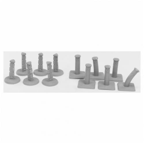 Reaper Miniatures REM49004 Bones Bollards Miniatures, Black - Pack of 12 Perspective: front
