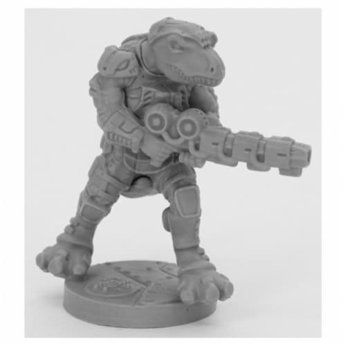 Reaper Miniatures REM49008 Bones Black-Blacktooth Suppressor Miniature Perspective: front