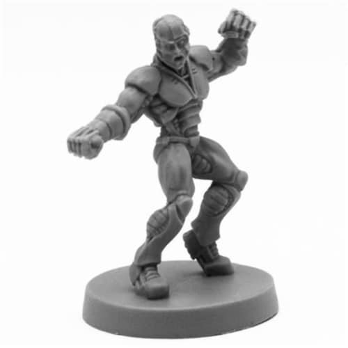 Reaper Miniatures REM49018 Bones Slade, Cyborg Hero Miniatures, Black Perspective: front