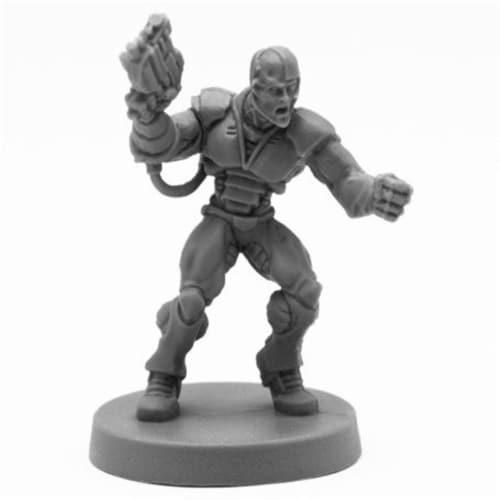 Reaper Miniatures REM49019 Bones Keryx, Cyborg Assassin Miniatures, Black Perspective: front