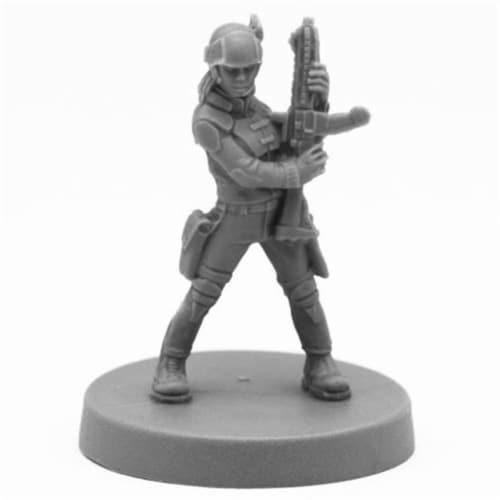 Reaper Miniatures REM49020 Bones Tess, Adventuring Heroine Miniatures, Black Perspective: front