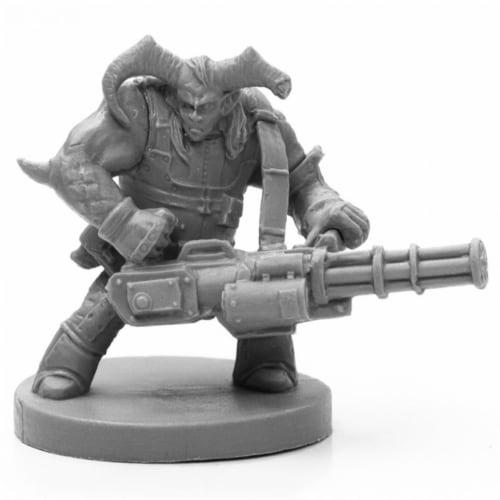 Reaper Miniatures REM49028 Bones Black-Caine, Cyber-Troll Miniature Perspective: front
